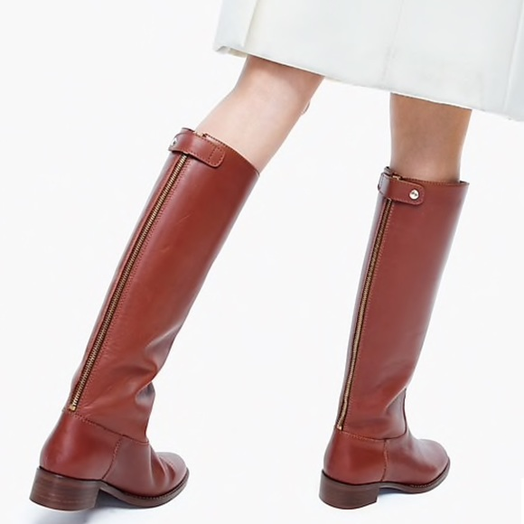 J Crew Field Brown Leather Boots